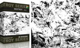 Vol.1 : Grunge Destroyed Elements Vectors