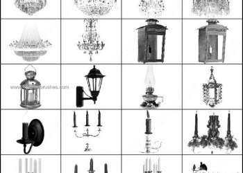 Chandelier – Lantern – Candelabra – Lamp Photoshop Brush