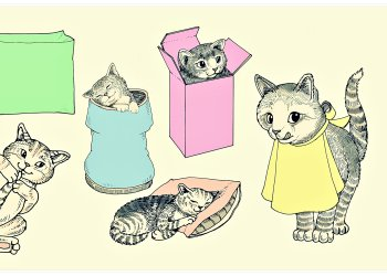 Retro Cute Kitties