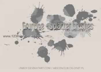 Splatter and Grunge