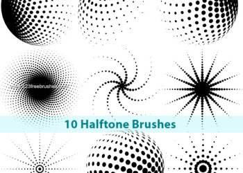 Free Halftone Photoshop Brushes