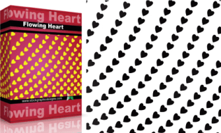 Flowing Shapes : Heart Pack