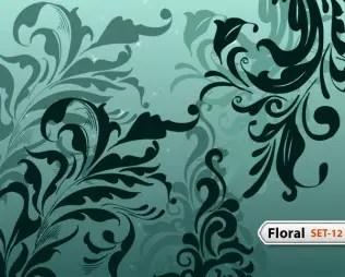 Hand Drawn Floral -Set-12