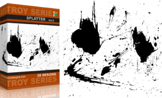 Vol.2 : Destroyed Paint Splatter Vectors