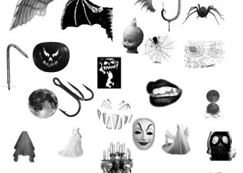 Wings – Spider Web – Lips and Skull