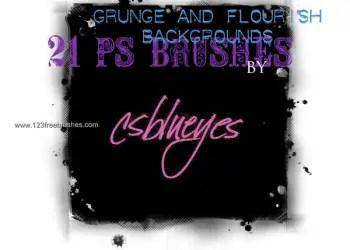 Grunge and Flourish Background