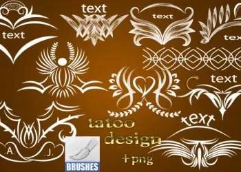 Photoshop Free Tattoo Design Set Brushes