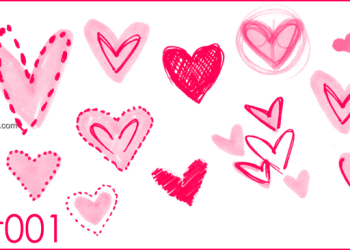 Cute Drawn Hearts