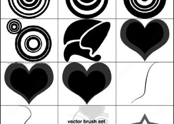 Star – Circle – Heart Shape Brushes Photoshop Download