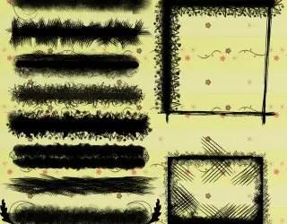 Grunge Frames Set 4
