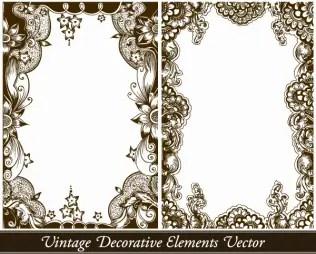 Vintage Decorative Floral Frames Vector