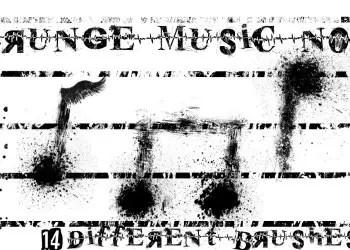 Grunge Music Note