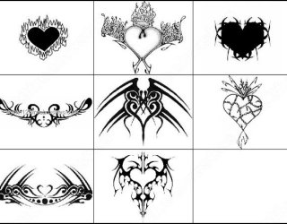 Tribal Heart Brushes for Photoshop