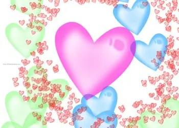 Abstract Shiny Hearts