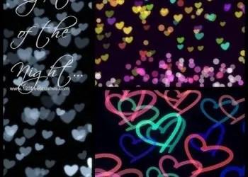Light Bokeh and Neon Heart