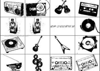 Radio – Cassette – Guitar Brush Photoshop