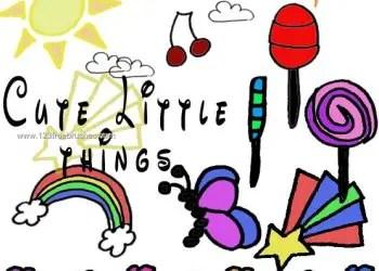 Cute Little Things – Butterfly – Rainbow – Flowers – Sun