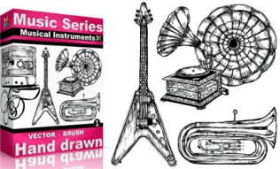 Vol.1 : Hand Drawn Musical Instruments