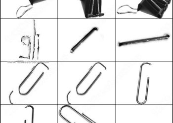 Free Paper Clips Brushes Photoshop