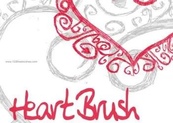 Sketch Floral Heart