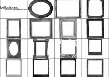 Decorative Frames Photoshop Brushes