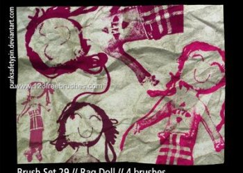 Doodle Children Drawing Rag Doll