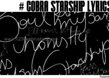 Cobra Starship Lyrics