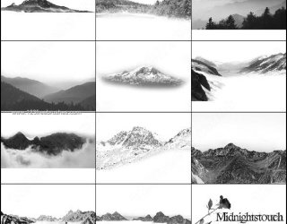 Mountain Brushes for Photoshop 7