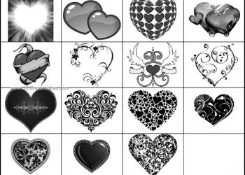 Free Photoshop Floral Heart Brushes