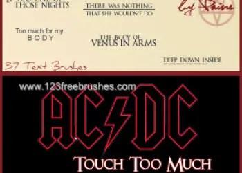 Touch Too Much Lyrics