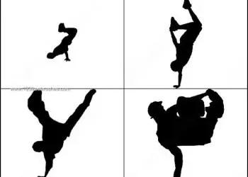 Break Dancers Silhouette Brush Pack