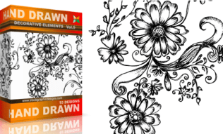 Vol.9 : Hand Drawn Sketchy Decorative Elements