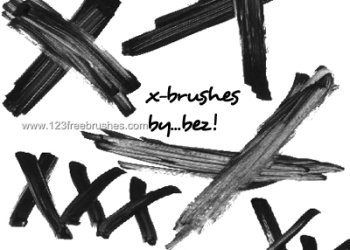Paint Strokes X Marks