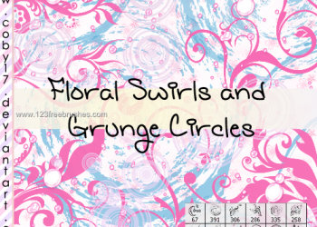 Swirls Flowers and Grunge Circle