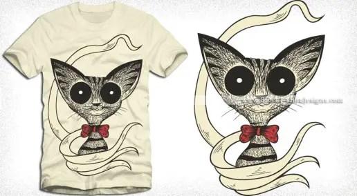 Cute Cartoon Bunny Rabbit Vector T-shirt Design