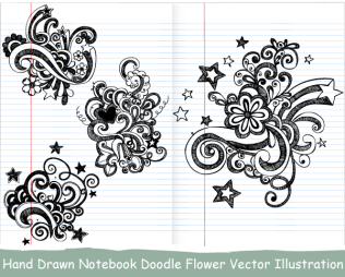 Hand Drawn Notebook Doodle Flower Vector Illustration
