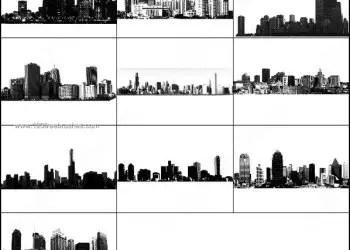 City Skyline Building Brushes Photoshop