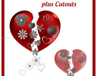 Valentines Day Heart Cutout