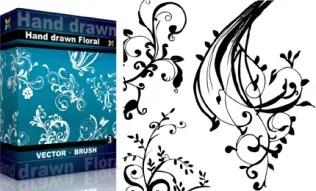 Hand Drawn Floral Set.1 | Vol : 3
