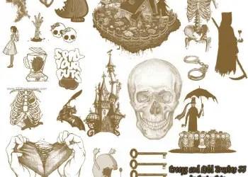 Creepy Skull Bones