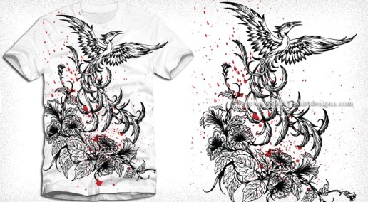 Phoenix Bird Vector T-Shirt Design