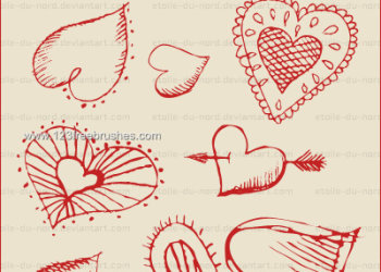 Valentine Drawing Hearts