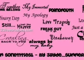 Random Song Titles