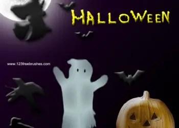 Halloween pumpkin witch zombie