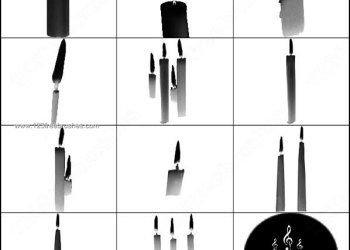 Candle Brushes Photoshop Free