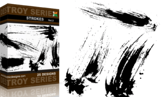 Vol.3 : Grunge Destroy Strokes Vectors