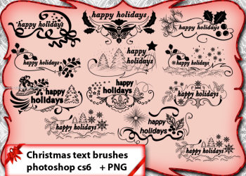 Ornate Christmas Text