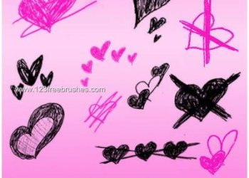 Scribble Hearts Valentines