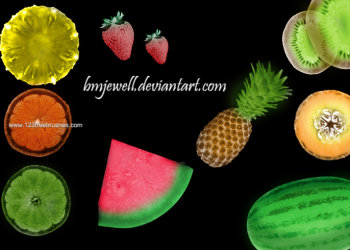 Fruits Watermelon – Pineapple – Orange Slice – Strawberry