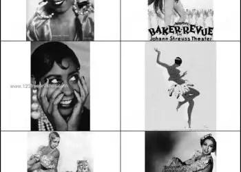 Girl Face Photoshop Brushes – Josephine Baker